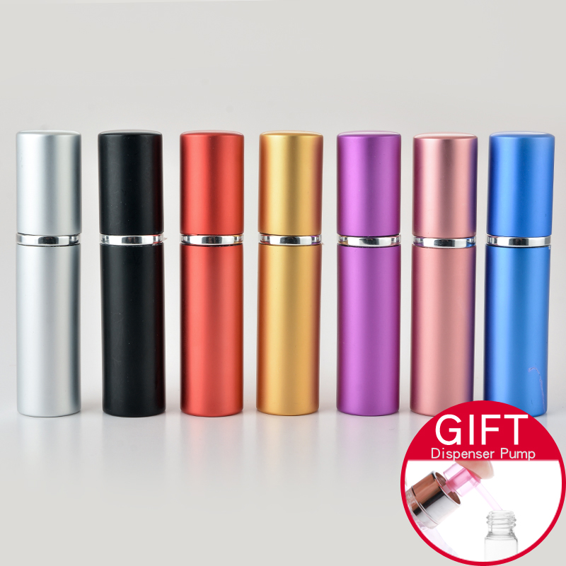 Hot Selling1 Piece 10ML Mini Portable For Traveler Perfume Bottle With Spray&Empty Parfum Case With Colorful For Free Shipping