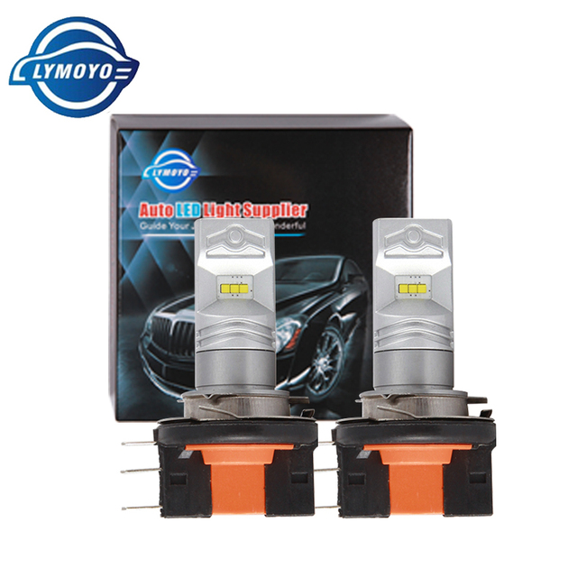 LYMOYO Car H15 with CSP chip 6SMD drl LED auto Fog Lamp Daytime Running Light Turning Bulb Headlight For Audi BMW Mercedes DC12V