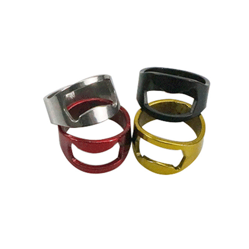 1pcs 22mm Multi-function Stainless Steel Color Ring Shape Beer Bottle Opener Ring