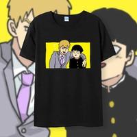 [XHTWCY] New Mob Psycho 100 Cosplay t shirt Summer cotton Anime men tshirt Tops Tees
