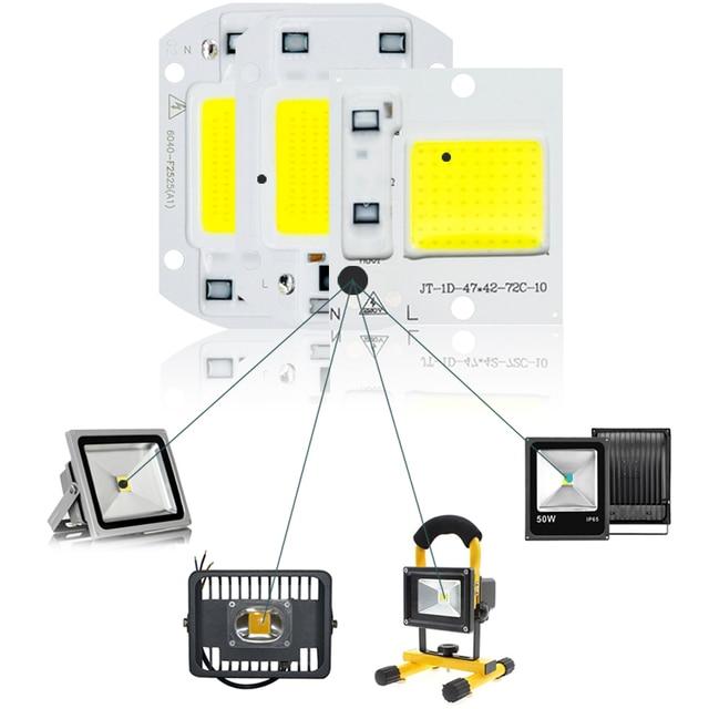 COB LED Lamp Chip 220V Smart IC LED Bulb Flood Light 4