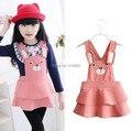 Autumn Sweet Children Girls Rabbit Overalls Suspender Skirt  Colourful Vintage TUTU Skirt  Gift Kid 3-7Y