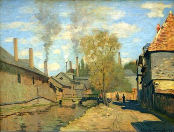 High quality Oil painting Canvas Reproductions The Stream of Robec at Rouen (1872) By Claude Monet hand painted