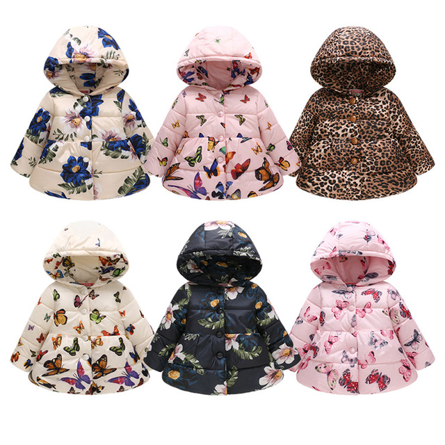 cc071f1f99ea 2019 Winter Baby Coats Cotton Girls Jacket Toddler Baby snowsuit ...