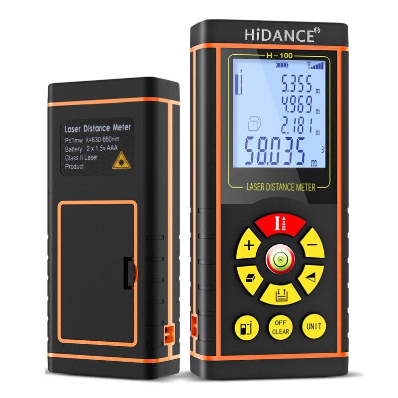 100M HiDANCE 12 IN 1 Digital Laser-distanzmessgerät Laser-entfernungsmesser Optische Band Palette Finder Diastimeter Messen Roulette
