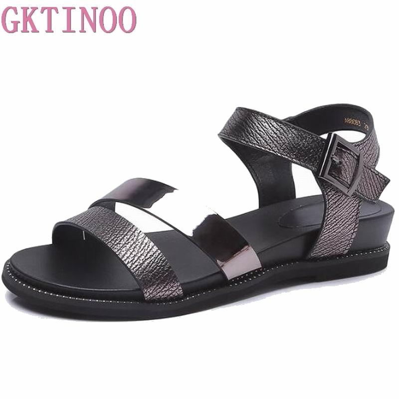 2018 Summer Flat Sandals Ladies Beach Flip Flops Gladiator Women Shoes Sandles platform Zapatos Mujer Sandalias HY395
