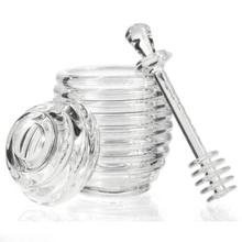 Honig Dispenser Transparent Acryl Gläser Löffel Honeycomb Flasche Honig Squeeze Lagertank Muffins Begleiter KC1285