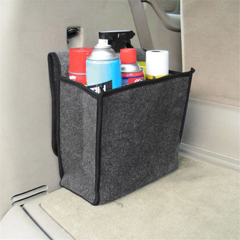 Car-Storage-Box-Bag Package Car-Trunk-Organizer Fireproof Stowing Tidying Felt Woolen title=