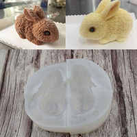 3D lapin de pâques lapin silicone fondant gâteau moules chocolat sugarcraft moule pour cupcake décoration animaux cuisson outils cuisine