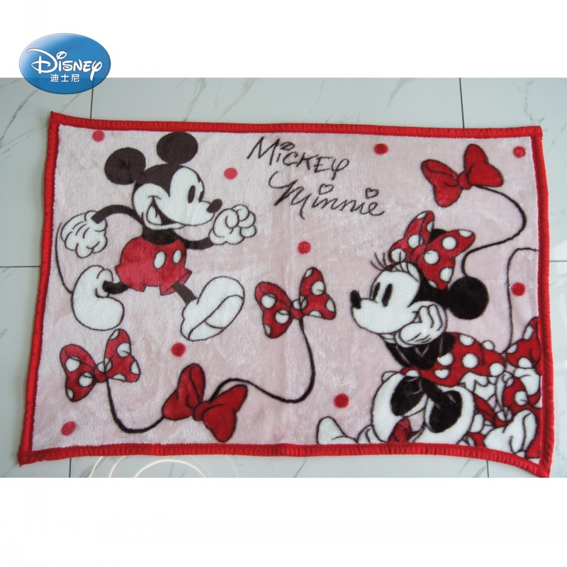 Disney Red Mickey Minnie Mouse Blanket Throw 70x100cm Small Throw for Baby Boys Girls Kids on Bed Crib Plane Car Summer Blanket