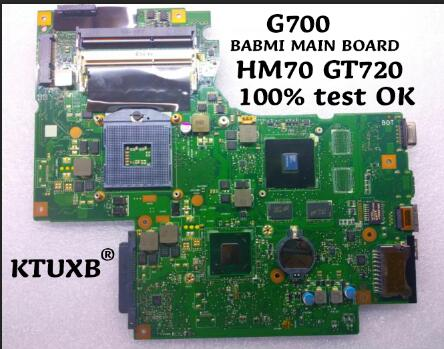 KTUXB BAMB1 MAIN BOARD REV 2 1 for Lenovo G700 notebook motherboard PGA988 HM70 GT720M 2G