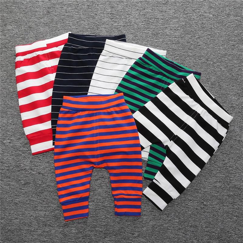 Hot 2016 Autumn Winter New Baby Pants Cotton Stripe Unisex Baby Boy Pants Baby Girl Pants Thickening Haren Pants Baby Leggings zutano unisex baby candy stripe pant