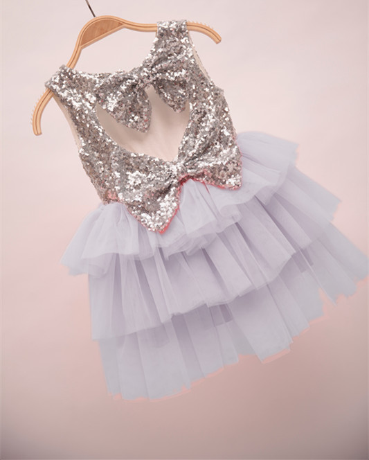 300d50dec 2016 Baby Girls Tulle Lace Sequins Dresses Kids Girl Heart Bow Dress Girl  Princess TuTu Cake Party Dress Babies Summer Clothes