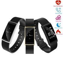 Новинка 2017 года KF108 Smart Band 0.96 дюймов сердечного ритма Мониторы крови кислородом Приборы для измерения артериального давления часы с Фитнес трекер умный Браслет