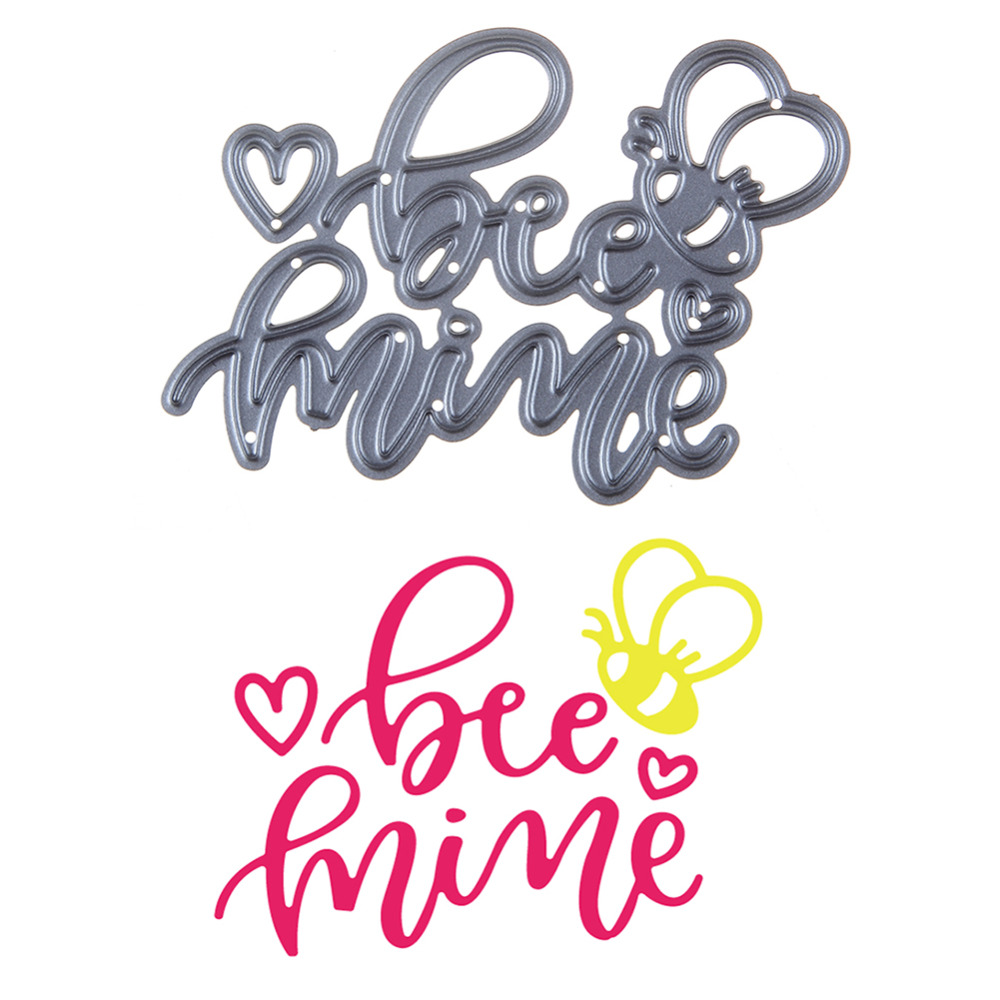70*54mm scrapbooking DIY heart Little bee balloon Shape Metal steel cutting die love Shape Book photo album art card Dies Cut