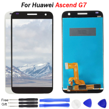 Original for Huawei Ascend G7 LCD Display with Touch Screen Assembly Digitizer for Huawei G7 Display 5.5 inch Replacement  tools brand new replacement parts screen for huawei ascend g8 lcd display with touch digitizer tools assembly 1 piece free shipping