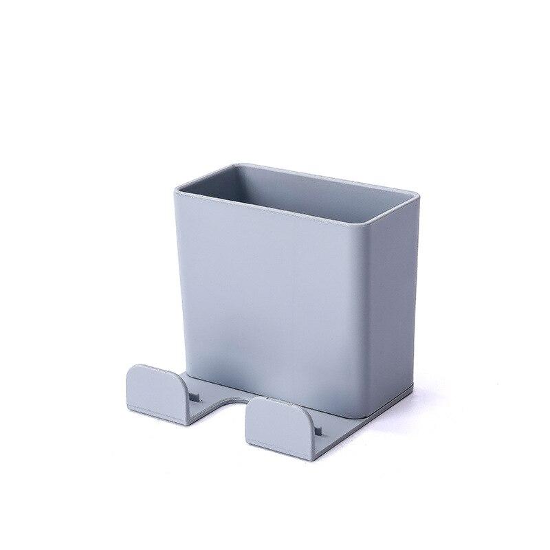 1 шт. настенный органайзер коробка для хранения пульт дистанционного управления кондиционер чехол для хранения мобильного телефона держатель подставка контейнер - Цвет: gray