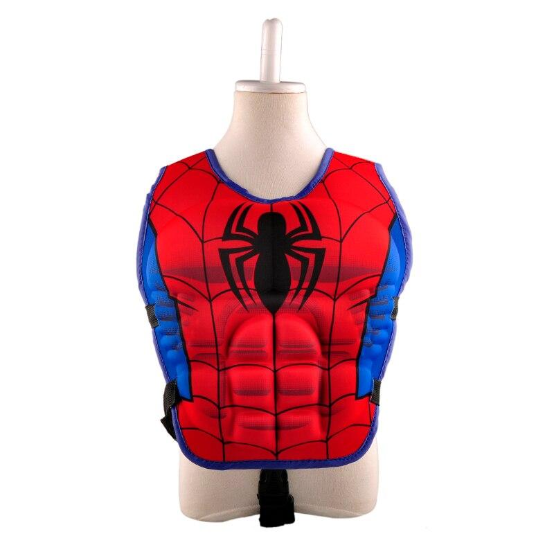 New kids life jacket vest superman batman spiderman for Toddler fishing vest