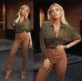 2016 mulheres outono inverno calças de brim de design da marca Sexy Femme Vintage Denim Jeans Mulheres Lápis Calças Skinny Slim