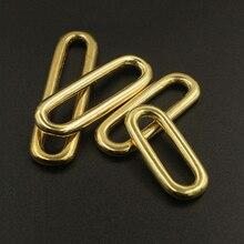 цена на Molded Cast Solid Brass Oval Loop Ring Buckle Leather Craft Bag Luggage Shoulder Strap Webbing Belt Strap Keeper