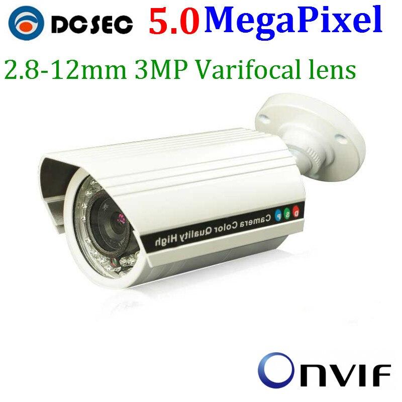 bilder für Onvif P2P Plug & play 5,0 MegaPixel mini ip-kamera poe Outdoor 5mp 1920 P 2,8-12 MM Vario Manuellen ZOOM Wasserdichte ip-kamera