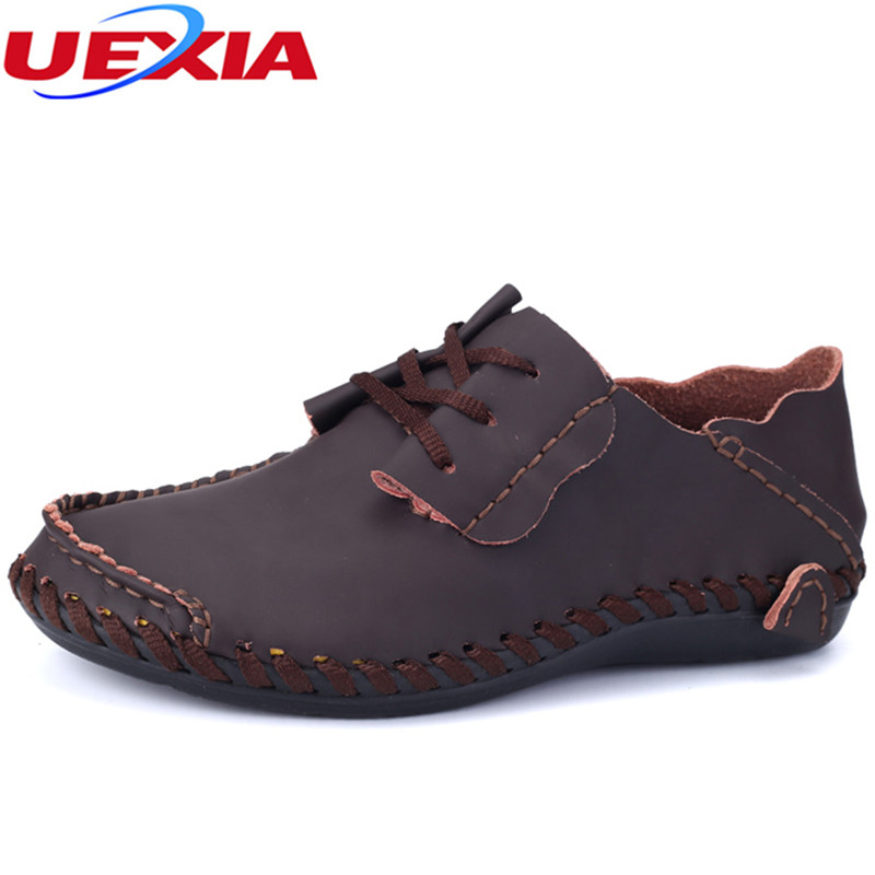 UEXIA Casual Shoes Men Hot Sale Breathable Walking Shoes For Male Slip-On Microfiber Loafers Quality Flats Shoes Big Size 38-50 50 52 big size fashion casual male denim pants biker jean hot sale trousers cotton classic straight jeans for man
