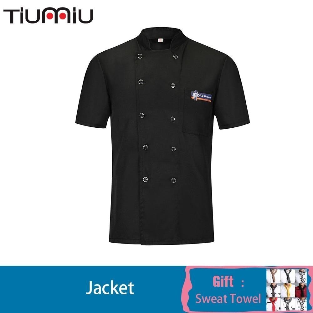 2019 Chef Jacket Summer Work Clothes Maid Cook Shirt Men Women Veste Professional Men  Kitchen Uniform Sushi Hotel Breathable