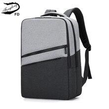 Fengdong Hoge Schooltassen Voor Tiener Jongens Mode Grote School Rugzak Laptop Tas 15.6 Student Usb Rugzak Voor Jongen