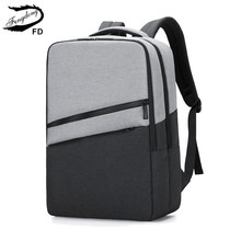 Fengdong high school bags for teenage boys fashion large school backpack laptop bag 15.6 college student usb backpack for boy