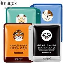 Images Cute Animal Pattern Mask 1Pcs Sheep/Panda/Dog/Tiger Nourishing Hydration Moisturizing Face Masks Oil Control Facial Care