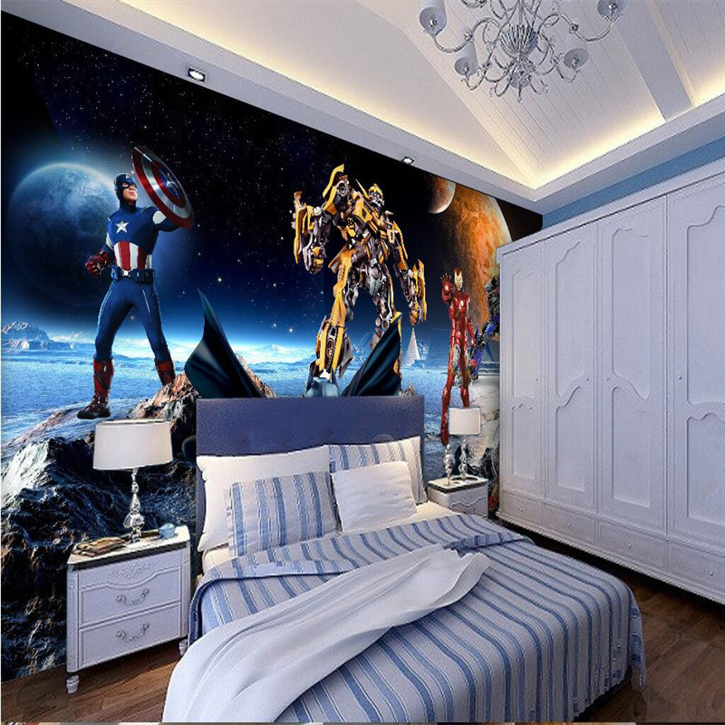 Transformers Bumblebee Wallpaper Autobots Movies Wall Mural 3D Large Wall  Art Room Decor Boyu0027s Bedroom Home Decor Wallpaper 3d In Wallpapers From  Home ...