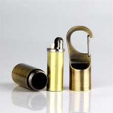 Outdoor Portable Kerosene Flint Lighter Key Chain Hang Buckle Gasoline Lighter Inflated Keychain Oil Petrol Lighter