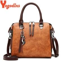 Yogodlns винтажная роскошная сумка с кошкой и кисточками, женские сумки, двойная молния, сумки через плечо, сумка на плечо, повседневная сумка-ракушка, женская сумка