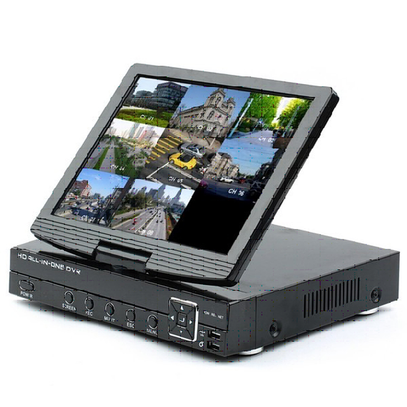 8ch 3-in-1 Analog AHD Digital Video Recorder (DVR) and ONVIF 1080P Network Video Recorder (NVR) with 10.1 Inch TFT LCD Screen