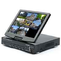 8ch 3 in 1 Analog AHD Digital Video Recorder (DVR) and ONVIF 1080P Network Video Recorder (NVR) with 10.1 Inch TFT LCD Screen