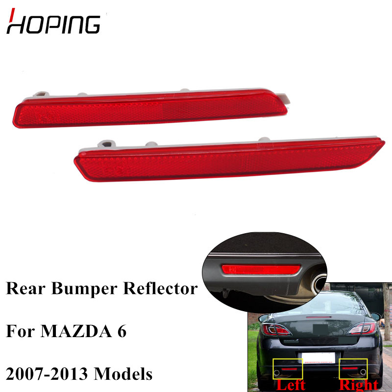 Hoping Rear Bumper Reflector Fog <font><b>Light</b></font> For <font><b>MAZDA</b></font> <font><b>6</b></font> 2007 2008 2009 2010 2011 2012 2013 Rear Warning Lamp image