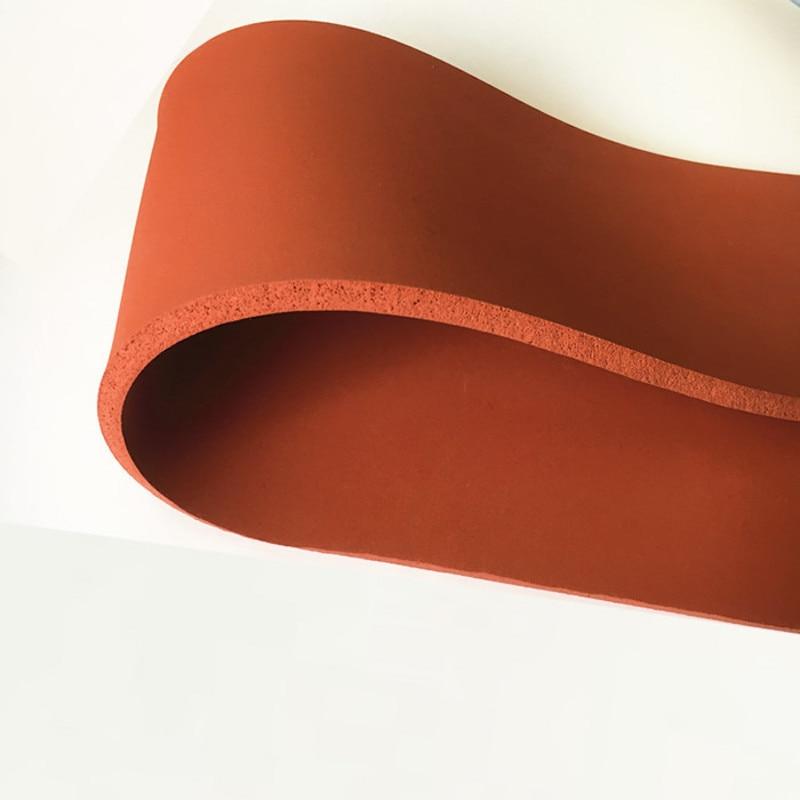Espuma de silicona esponja tablero de chapa manta aislante de calor tira cuadrada 500x500x25mm rojo
