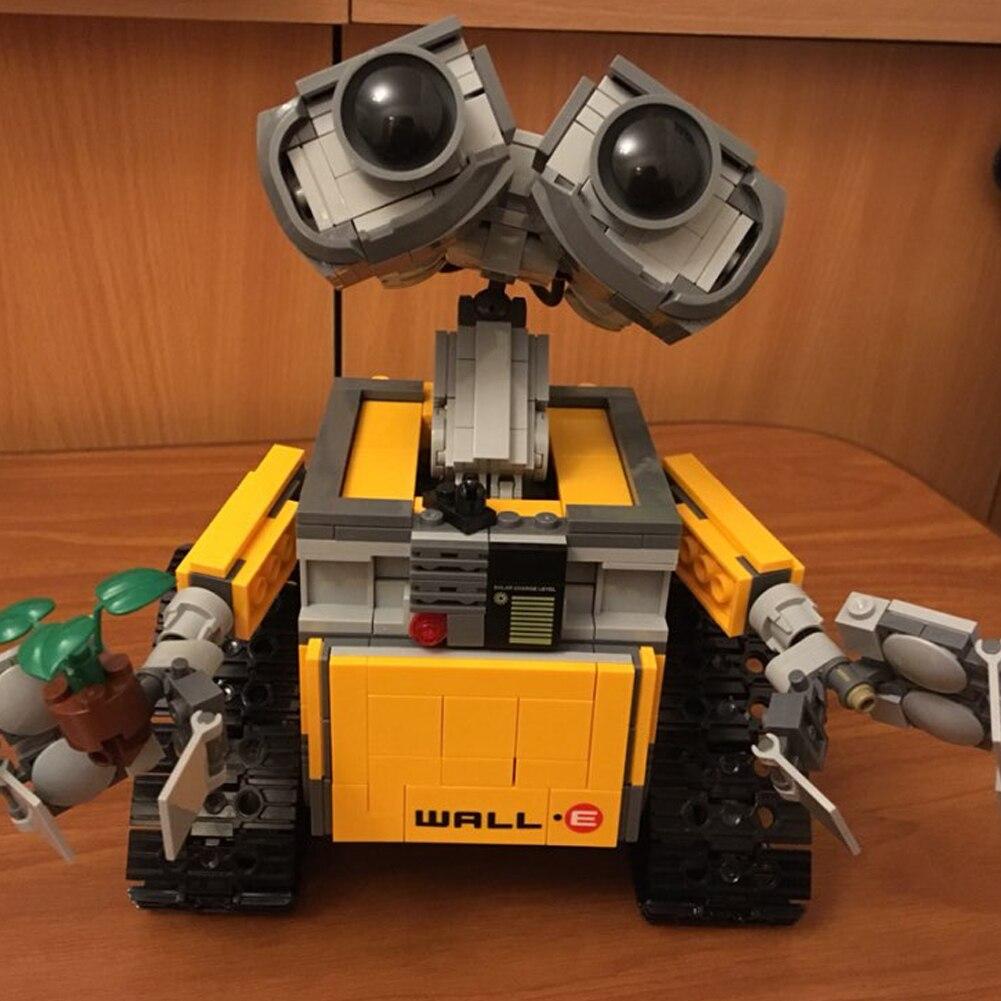 Juguetes de bloques de construcción para niños más baratos de pared E construcción de ladrillos Idea Robot 687 piezas