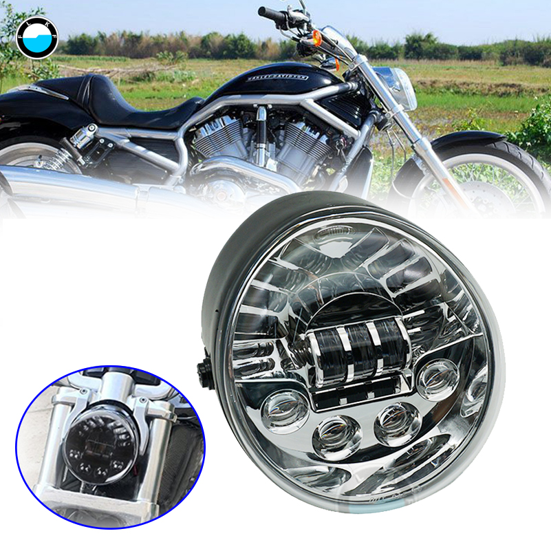 Accessories For Harley V-ROD Motorcycle LED HEADLIGHT Aluminum Black Headlight For Harley V Rod VROD VRSCA Headlight VRSC . dot sae e9 vrod harley black headlight lamp for harley v rod headlight vrod vrsca vrsc headlight vrsc v rod motorcycle vrod led