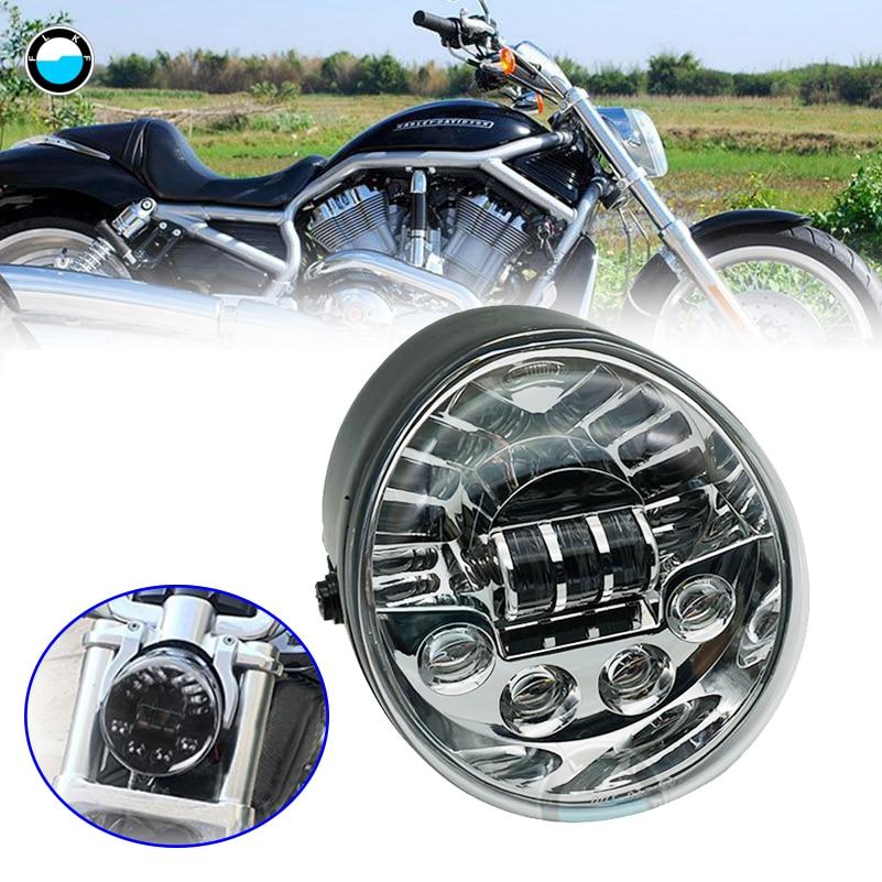 Accessories For V-ROD Motorcycle LED HEADLIGHT Aluminum Black Headlight For V Rod VROD VRSCA Headlight VRSC .