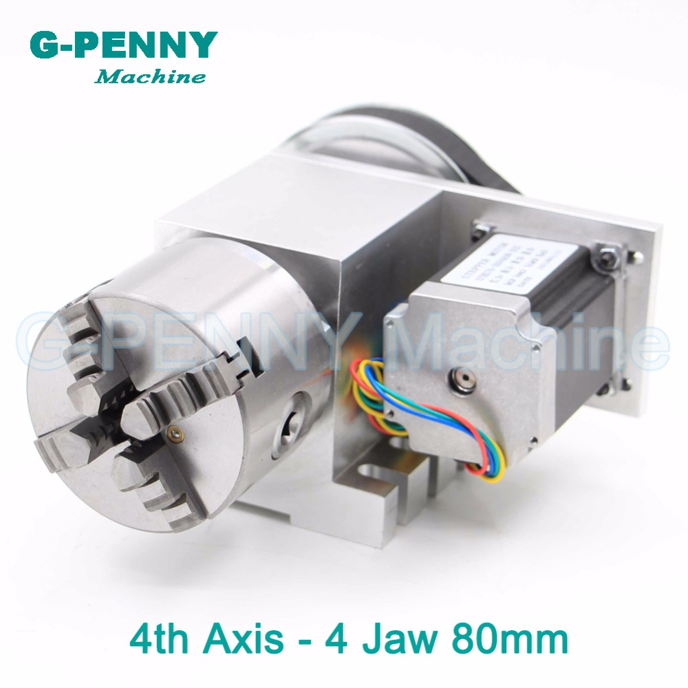 Sale! 80mm 4 Jaw CNC 4th Axis CNC dividing head/Rotation 6:1 Axis/A axis kit for Mini CNC router/engraver woodworking engraving
