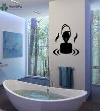 YOYOYU Wall Decal Modern Design Vinyl Wall Stickers Girls Beauty Salon Home Decor Bathroom Interior Window Removable JM8