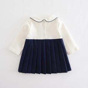 Image 4 - 赤ちゃんの女の子は秋プレッピースタイルのウサギのパターン幼児ドレス子供プリーツクリスマスドレスのための服 0  2 t