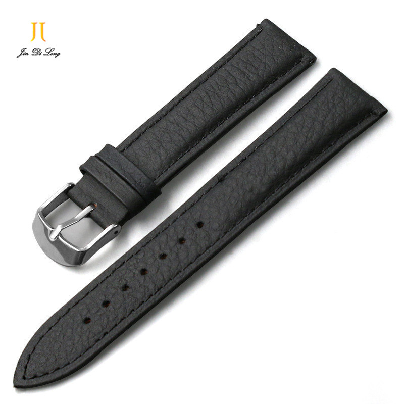 Watchbands Wholesale Durable Men/Women genuine Leather Stainless Steel Buckle Strap Watch Band12 16 18 20 21 22 24mm Black Brown maikes new product durable genuine leather watch band 19mm 20mm 22mm black casual watch strap stainless steel buckle for tissot