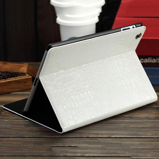 High Quality Crocodile Leather Case for iPad 4 3 2