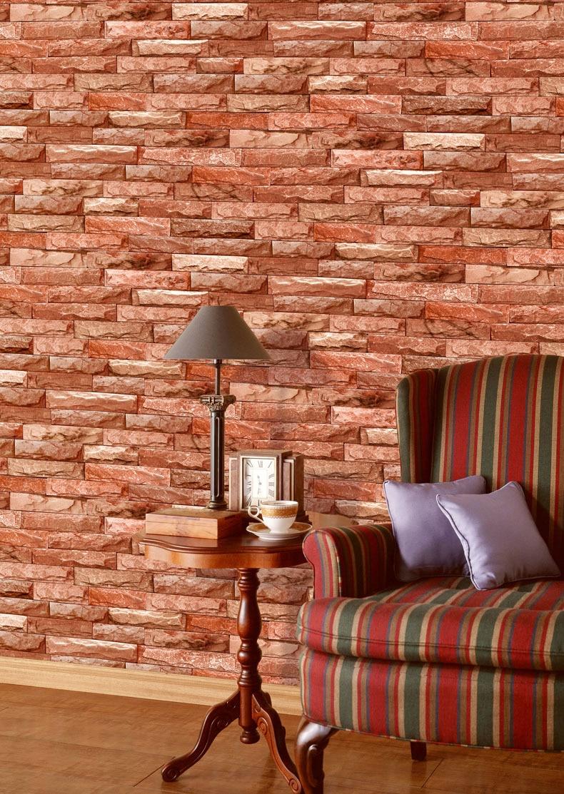 Aliexpresscom Buy Navy Vintage 3D Brick Wall Paper Roll Grey