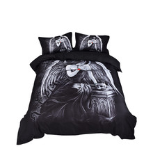 Three-Piece Fashion 3d Digital Printing Bedding Set Lining Double-Layer Duvet Suit creative  modern concepts