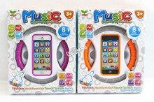 English Box Phone Learning Machine Toy / Cartoon Wheel Music Machine Orange And Purple