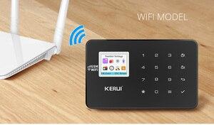 Image 5 - Беспроводная домашняя сигнализация KERUI W18 черного цвета с дистанционным управлением, Wi Fi, GSM, приложение LCD, GSM, SMS, система охранной сигнализации