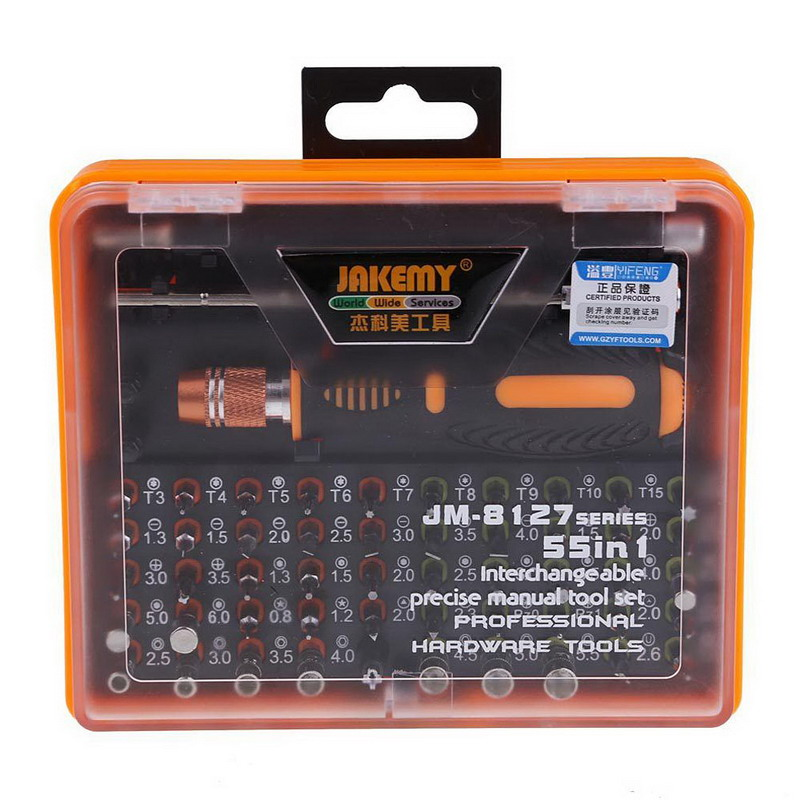 1 SET 53 in 1 Multi-Bit Precision Torx Screwdriver Tweezer Phone Repair Tool Set High Quality VEH67 46pcs 1 4 inch high quality socket set car repair tool ratchet set torque wrench combination bit a set of keys chrome vanadium